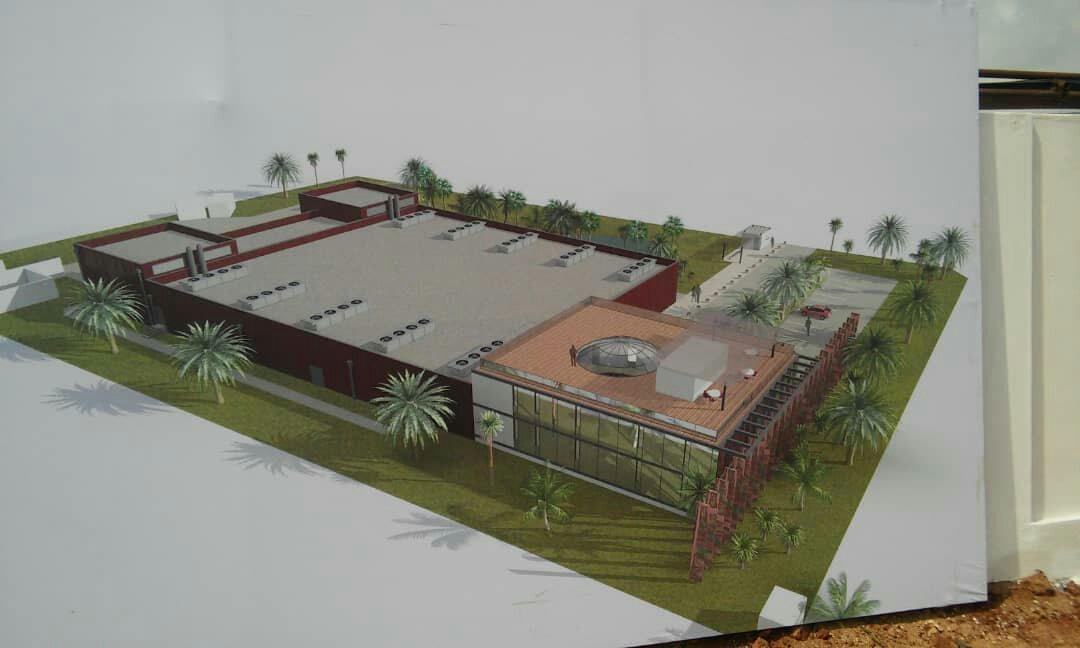 Maquette Nouveau Data Center de Lomé