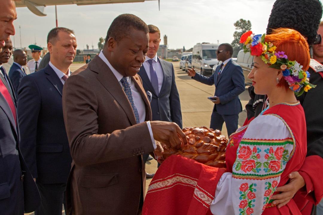 Arrivée du chef de l'Etat à Sotchi